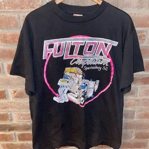 Vintage 90's Single Stitch Fulton Racing Shirt